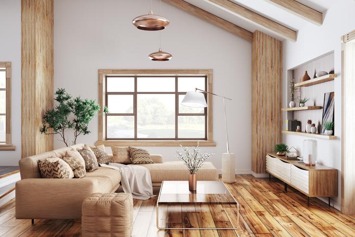 monochromatic-living-room-floor-lamp